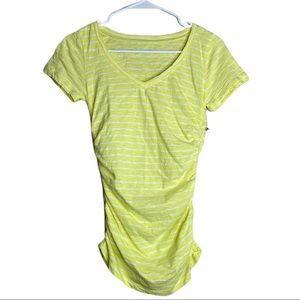 Caslon Maternity T-Shirt Striped Lemon & White XS
